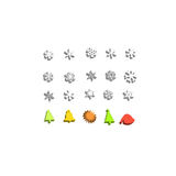 Christmas 3d icon set Stock Images