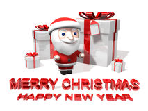 The christmas 3d party Royalty Free Stock Images