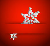 Christmas 3d snowflake Stock Images