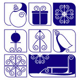 Christmas. Icons and design elements about winter Royalty Free Stock Image