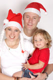 Christmas. A family celebrating the christmas holiday Royalty Free Stock Photography