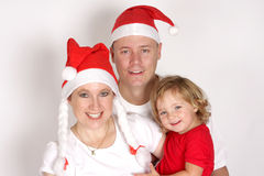 Christmas. A family celebrating the Christmas holiday Stock Images