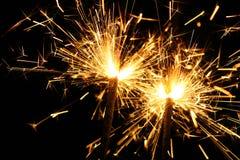 Sparklers on Black Stock Images