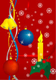 Christmas. Background with balls and bells Stock Image