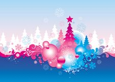 Christmas. Vector background with Christmas tree Stock Photography