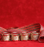 Christmas. Decorations on a red background Stock Images