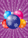 Christmas. Background with balls and wave pattern. Vector illustration stock illustration