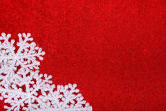 Christmas. Big snowflakes on red background Royalty Free Stock Photography