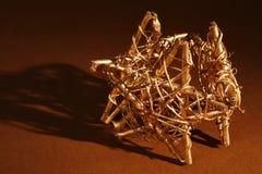 Christmas. Three shining and gold christmas stars royalty free stock images