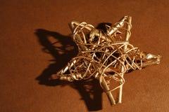 Christmas. One gold and shining christmas star stock image