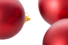 Christmas. Tree with red balls Stock Image