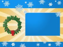 Christmas. Abstract background Merry Christmas 2009, Internet cards, place for text and photo vector illustration
