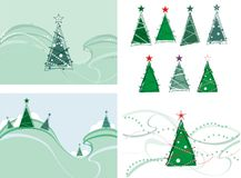 Christmas. Tree, Illustration and Painting vector illustration