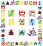 Christmas. Color symbol for the background stock illustration