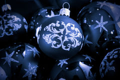 Christmas. Background with blue christmas events Stock Photos