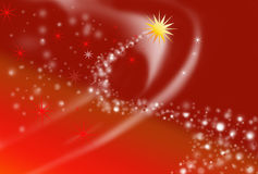 Christmas abstract. Illustration of a star theme on a red gradient background Royalty Free Stock Photos