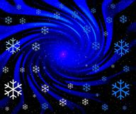 Christmas abstract. Ion background. Flying snowflakes Royalty Free Stock Image