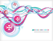 Christmas abstract _7. New Year and Christmas image, with snow balls stock illustration