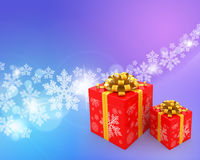 Christmas abstract background. With gift boxes stock illustration
