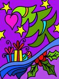 Christmas abstract background. With design Stock Images
