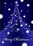 Christmas abstract background blue with stars Royalty Free Stock Image