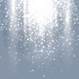 Christmas silver abstract background stock illustration