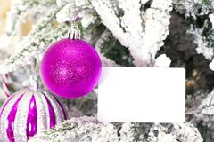 Christmas abstract background with card template Royalty Free Stock Images