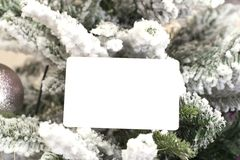 Christmas abstract background with card template Stock Image
