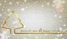 Christmas abstract background with Christmas tree and Christmas Royalty Free Stock Photos
