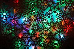 Christmas abstract background from color lights. As holiday texture stock illustration