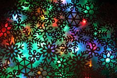 Christmas abstract background from color lights. As holiday texture vector illustration