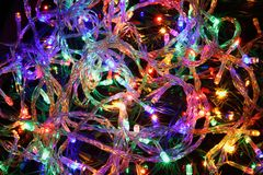 Christmas abstract background from color lights. Christmas abstract background from color lighton the black background Stock Images