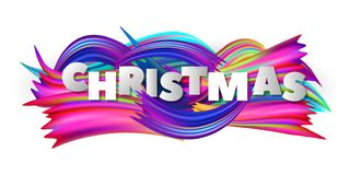 Christmas abstract background with colorful brushstroke. Vector illustration stock illustration