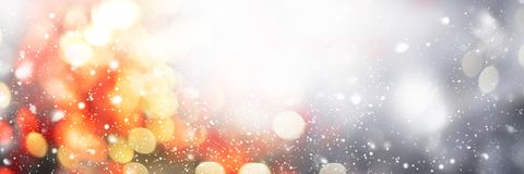 Christmas Abstract Background Defocused Spot Light. Festive Christmas Abstract Background Defocused Spots Light Colors Photo Boke Banner Long Design royalty free stock photography