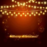 Christmas abstract background with light garland Stock Photography