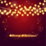 Christmas abstract background with light garland Stock Image