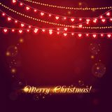 Christmas abstract background with light garland. Vector illustration Stock Image