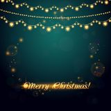 Christmas abstract background with light garland Royalty Free Stock Photos