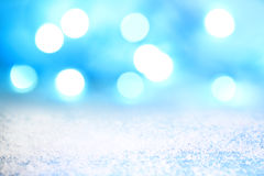Christmas abstract background with lights and snow Stock Images
