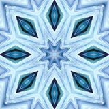 Christmas abstract background pattern snowflakes.  Mirror Symmetry. Christmas abstract background texture pattern with snowflakes. Mirror Symmetry stock illustration