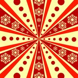 Christmas abstract  background with rays (vector) Royalty Free Stock Images