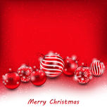 Christmas Abstract Background with Red Balls Royalty Free Stock Photos