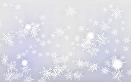 Christmas Abstract Background. With snow on a pastel backdrop Stock Image