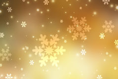 Christmas abstract  background with snowflake. Christmas gold abstract  background with snowflakes Royalty Free Stock Image