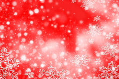 Christmas abstract  background with snowflake. Christmas red abstract  background with snowflakes Stock Photo