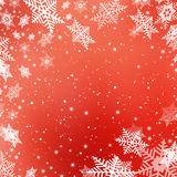 Christmas abstract  background with snowflake. Christmas red abstract  background with snowflakes Stock Image