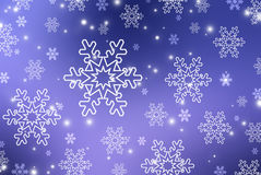 Christmas abstract  background with snowflake. S Stock Photography