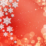 Christmas abstract  background with snowflakes Royalty Free Stock Photo
