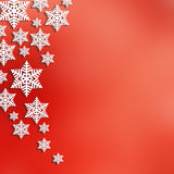 Christmas abstract  background with snowflakes Stock Photos