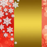 Christmas abstract  background with snowflakes. Abstract snowflake Christmas winter background with copy space Royalty Free Stock Photos